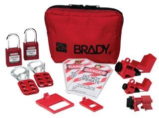 105967 BRADY PERSONAL BRKR LO POUCH (W/SAF PADLOCKS)