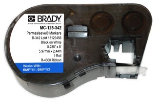 MC-125-342 BRADY MSERIES B342 WHT 0.235