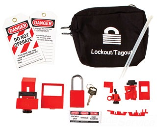 95538 BRADY LOCKOUT POUCH KIT WITH LOCK 75447395538