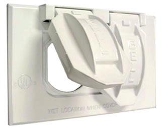 5180-1 RACO 1G HORIZONTAL WP COVER DUPLEX - WHITE