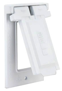 5103-1 RACO 1G VERTICAL WP COVER GFCI WHITE