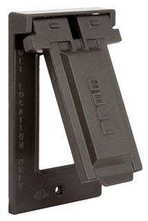 5103-2 RACO 1G VERTICAL WP COVER GFCI - BRONZE