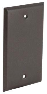 5173-7 RACO 1G VERT/HORIZ WP COVER BLANK BRZ CARDED