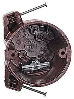 3190-C CAR OUTLET BOX 3-1/2 ROUND 22.8 CU IN