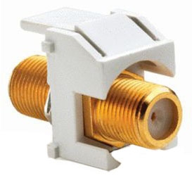 WP3480-WH P&S GOLD STANDARD F CONNECTOR WH (M20)