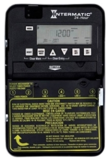 ET1125C I-MATIC 24-HOUR 30 AMP 2XSPST OR DPST ELECTRONIC TIMESWITCH - CLOCK VOLTAGE 120-277V NEMA 1