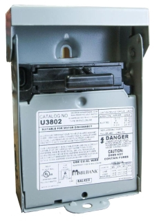 U3802 MILBANK 60A NONFUSIBLE DISCONNECT 58691