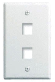 WP3402-WH P&S 1G WALL PLATE 2-PORT WH (M10)