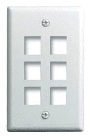 WP3406-IV P&S 1G WALL PLATE 6-PORT IV (M10) 80442802574