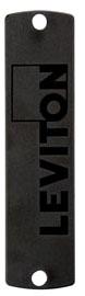 5F100-PLT LEV OPTX BLANK PLATE / BLACK