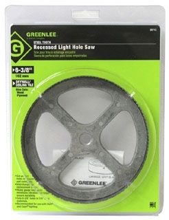 35713 GRE 6-3/8 STEEL HOLE SAW FOR RECESSED LTG.
