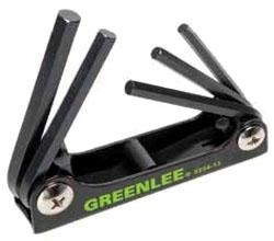 0254-13 GREENLEE WRENCH,HEX-KEY SET 5 PC STD FOLDING 78331056269