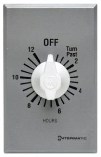FF12HC INT 12 HOUR SPST WALL TIMER 20A125V WITHOUT HOLD