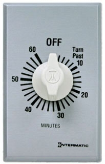 FF360M INT 60MIN SPRING TIMER W/METAL 1-GANG PLATE