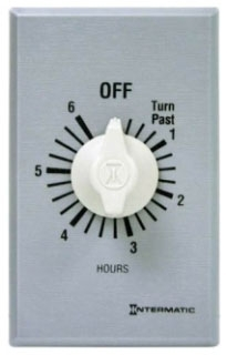 FF6H INT 6 HOUR SPST WALL TIMER 20A125V WITHOUT HOLD