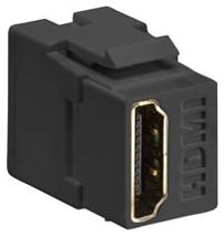 40834-E LEVITON CONN HDMI FDTHRU BK 07847752636