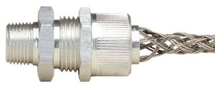 L7708 LEV STRAIN REL CORD GRIP 2 NPT .5 - .625 W/ STAINLESS STEEL MESH