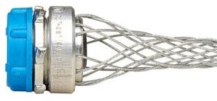 L7503 LEV STRAIN REL CORD GRIP 1/2 NPT .40 -.54 W/ GALV STEEL MESH