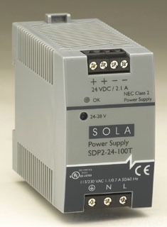 SDP2-24-100T SOL 24V 2.1A LOW POWER DIN RAIL POWER SUPPLY