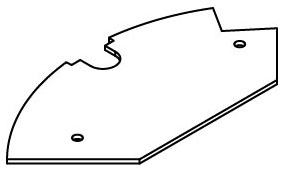 CRFB-B-3 WALKER BLANK DEVICE PLATE #3 78677613847