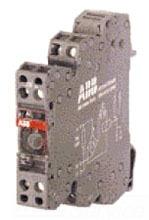 1SNA645012R2500 ABB R600 TERMINAL BLOCK RELAY 12MM, 24VAC/DC COIL, w/LED, DPDT 8AMP @ 250V, SCREW TERMINAL RB122A-24VAC/DC