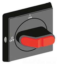OHYS2AJ1 ABB RED/YEL SELECTOR HANDLE, NON-DEFEATABLE, 6mm PADLOCKABLE H6 RPLS OHY2AJ1