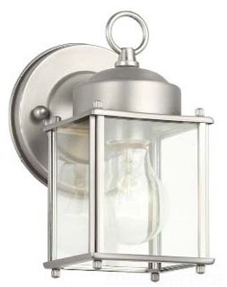9611SS KIC OUTDOOR SCONCE W/60A120 CLEAR
