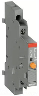 CK1-11 ABB SIGNALING CONTACTS 1NO/1NC, RIGHT MOUNTED WITH SHORT CIRCUIT TRIP ALARM FOR USE ON MS132 MANUAL MOTOR PROTECTORS