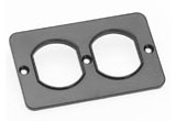 3051BLK WOODHEAD DUP COVER PLATE FOR OUTLET BOX BLACK