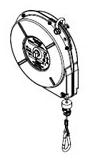 22F-LR WOODHEAD AERO-MOTIVE RETRACTOR W/ RATCHET LOCK 8FT TRAVEL 1301750012