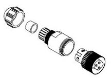 7A3000-32 B-H MIC 3P F-ATTCH DUAL KEYWAY PG9 78678830716 1200750015