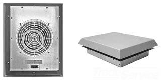 SR1616424 HOFFMAN IP54 459 Roof-Mount Fan 115V 7035 16.54x16.54x1.97 Plastic 19974