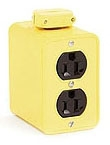 3000-1 WHD OUTLET BOX 2-DUPLEX 5-15 PORTBLE 1301370088