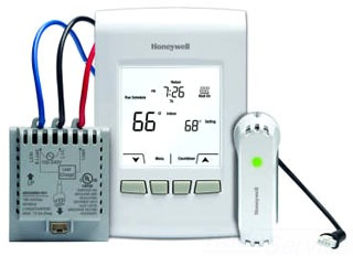 YTL9160AR1000 HONEYWELL WIRELESS PROGRAMMABLE LINE VOLTAGE THERMOSTAT KIT.REDLINE ENABLED.UP TO 3000W. INCLUDES WIRELESS ECONNECT 7-DAY / 5-2 PROGRAMMABLE THERMOSTAT AND ELECTRICAL HEAT EQUIPMENT INTERFACE MODULE.