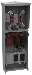 U5100-XL-11GR MILB TEMP POLE O/H W/2-GFI RECP AND 100A METER BASE