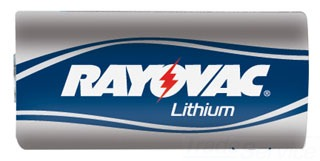 RL123A-1G RAY LITH PHOTO/ELEC BATTERY 3V CARDED 1-PACK