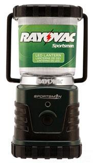 SPLN3D-TA RAYOVAC SPORTSMAN XTREME LED LANTERN 300 LUMEN 150 HR RUN TIME ON 3 D CELLS 4WATT HI/LO/STROBE CASE/4