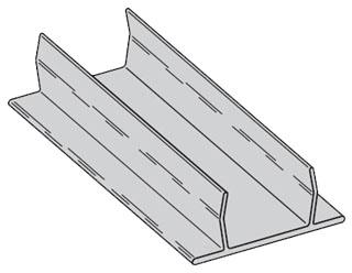 B217AL-120 B-LINE 10FT STRUT CLOSURE STRIP ALUM