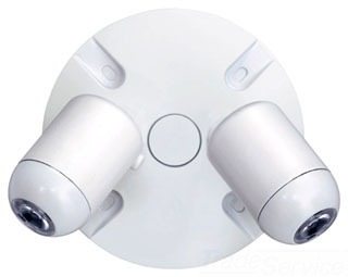 EVODW DUALLITE OUTDOOR REMOTE LED HEADS, DOUBLE HEAD, WHITE FINISH