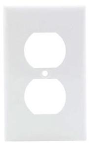 80703-W LEV 1G NYLON PLATE W/1 DPLX RECEP WHITE