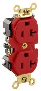 5362-R LEV 20A/125V 2P3W DPLX RECEP RED 5-20R