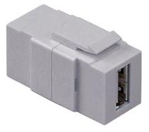 40835-G LEVITON CONN USB FDTHRU GY