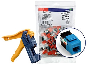 5G108-JL5 LEV CAT 5E KIT (INCL: 150 JACKS & TOOL) 8P8C QUICKPORT BLUE