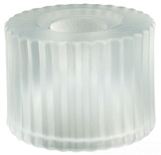 G112-WT WAC **GLASS ONLY** WHITE GROOVED CYLINDER