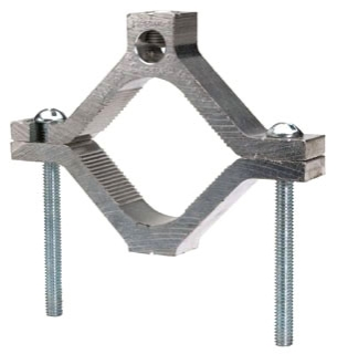 GC15A BUR AL.GROUND CLAMP 1/0-14AWG ALCU FOR PIPE 1/2,3/4 & 1