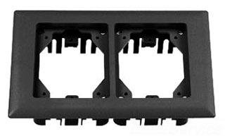 PFBRFBL2 HUBBELL CARP FLANGE, PLASTIC, 2-G, RECT, BLACK 78358584870