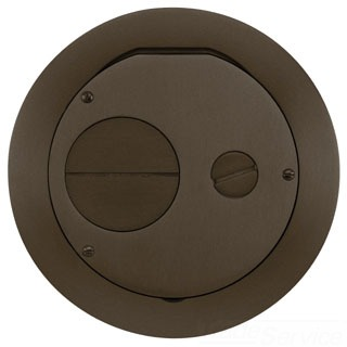 S1R6FFCVRBRZ HUBBELL S1R FRPT 6 FURNITURE FEED COVER BRONZE