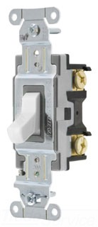 CSB420W HUBBELL SWITCH, SPEC, 4W, 20A 120/277V, B+S, WH 78358515433