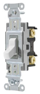 CSB115W HUBBELL SWITCH, SPEC, SP, 15A 120/277V, B+S, WH