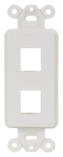 ISF2OW HUB PLATE, DECORATOR FRAME,2PORT,OW